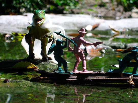 Waller Creek Is For Beasts And Diorama Making? Some pictures from last weekend.