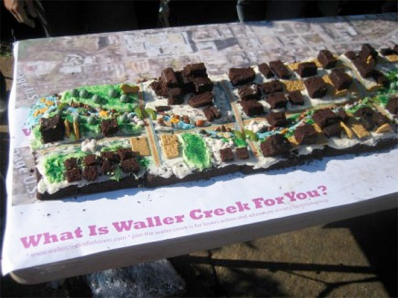 Project: Waller Creek Is For Lots Of People Making An Amazing Cake Of Waller Creek + Eating It.