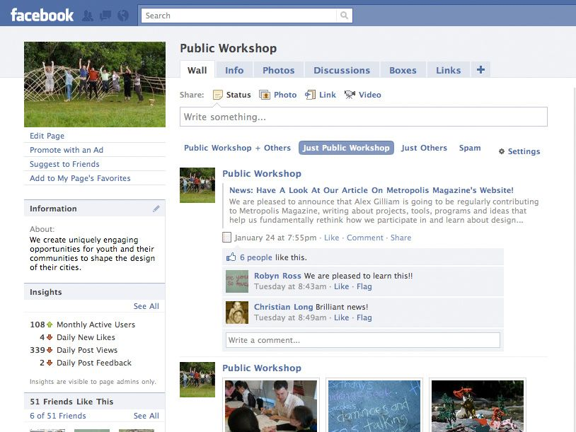 News: You Can Now Find Public Workshop On Facebook. Stop By And Say Hello.