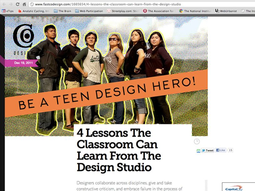 Public Workshop + Our #teendesignheroes Are Featured In Fast Company Magazine!