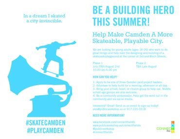 Help Make Camden, NJ More Skateable And Playable This Summer!