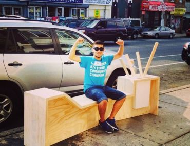 Youth Design-Build Benches For Businesses To Strengthen A Retail Corridor.